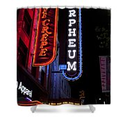 Orpheum And Cafe Crepe Shower Curtain