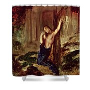 Orpheus At The Tomb Of Eurydice Shower Curtain