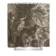 Orpheus, Leading Eurydice Out Of Hell Shower Curtain