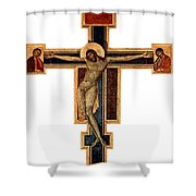 Orthodox Cross Shower Curtain