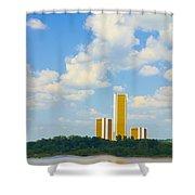 Oru River Skyline II Shower Curtain