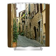 Orvieto Lane Shower Curtain
