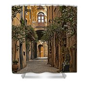 Orvieto Side Street Shower Curtain by Lynn Andrews