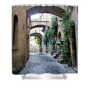Orvieto Street With Arches Shower Curtain