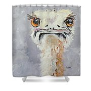 Oscar - An Ostrich Shower Curtain