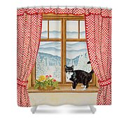 Oscar Carlton-jones, 1988 Shower Curtain