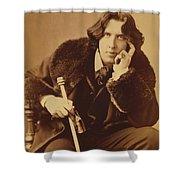 Oscar Wilde 1882 Shower Curtain