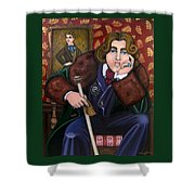 Oscar Wilde And The Picture Of Dorian Gray Shower Curtain by Victoria De Almeida