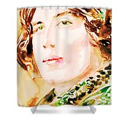 Oscar Wilde Watercolor Portrait.3 Shower Curtain