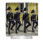 Oslo Royal Palace Guards Shower Curtain