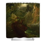Ossian Conjuring Up The Spirits  Shower Curtain