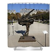 Ostrich Art At The Jardin Des Tuileries In Paris France Shower Curtain