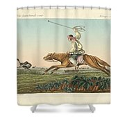 Ostrich Hunting Shower Curtain