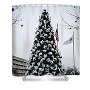 Osu Tree Shower Curtain
