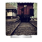 Other Side Of The Tracks Shower Curtain