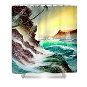 Othere Side Of Diamondhead Waikiki Hawaii Shower Curtain