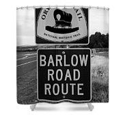 Barlow Road Cutoff Sign Shower Curtain