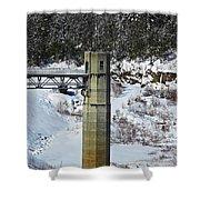 Otter Brook Dam Shower Curtain