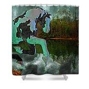 Otter Lake Phantom Shower Curtain