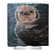 Ottertude Shower Curtain