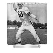 Otto Graham Nfl Legend Poster Shower Curtain