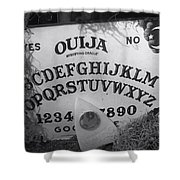 Ouija Board Queen Mary Ocean Liner Bw Shower Curtain