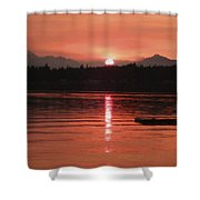 Our Beach At Sunset  Shower Curtain