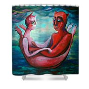 Our Boat Shower Curtain