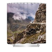Our Bus Journey Through The Himalayas Shower Curtain