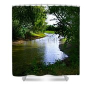 Our Fishing Hole Shower Curtain