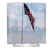 Our Flag Shower Curtain by Joseph Baril