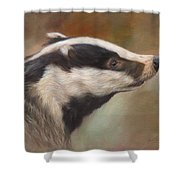 Our Friend The Badger Shower Curtain