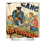 Our Gang Vintage Movie Poster 1930s Shower Curtain