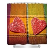 Our Hearts On The Table Shower Curtain