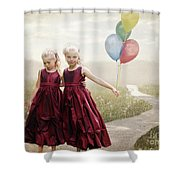 Our Hearts Say We're Friends Shower Curtain