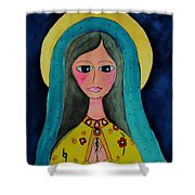 Our Lady Shower Curtain