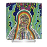 Our Lady Of Fatima 2012 - Detail A Shower Curtain
