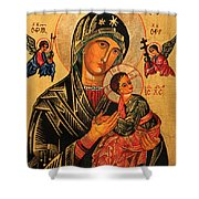 Our Lady Of Perpetual Help Icon II Shower Curtain by Ryszard Sleczka