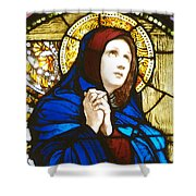 Our Lady Of Sorrows In Stained Glass Shower Curtain