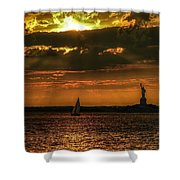 Our Lady Of The Harbor Shower Curtain