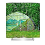 Our Lady Of The Way Quonset Hut Chapel In Haines Junction-yt Shower Curtain