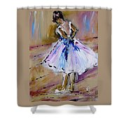 Our  Ballerina Girl Painting Shower Curtain