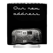 Our New Address Announcement Card Shower Curtain