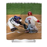 Out At The Plate Shower Curtain