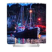 Out Before Dawn Shower Curtain
