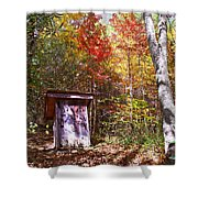 Out House In The Fall Shower Curtain