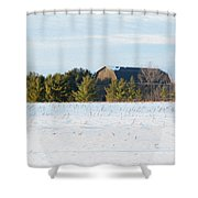 Out In The Snow Shower Curtain