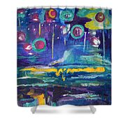 Out In The Universe Shower Curtain