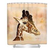 Out Of Africa's Giraffe Shower Curtain