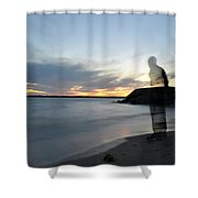 Out Of Body...out Of Mind...yet In Peace Shower Curtain
